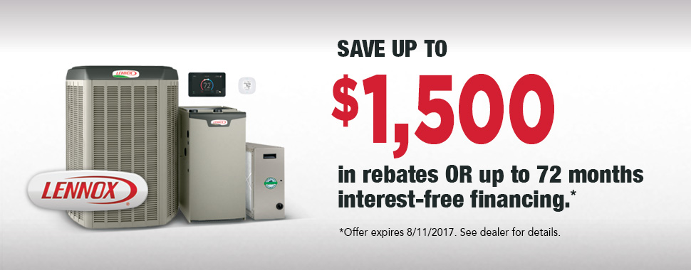 Lennox Air Conditioner Rebate and Financing Summer 2017