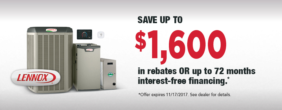 Lennox Air Conditioner Rebate and Financing Fall 2017